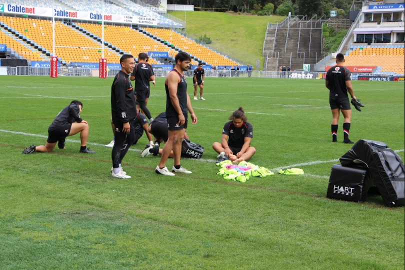 The Warriors trained at Mt Smart on Wednesday before flying out to Australia.