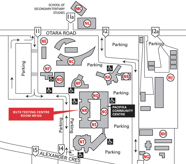 MIT Otara IELTS Test Centre map